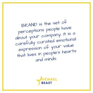 01a-BRAND is the set of perceptions people have about your company